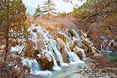 Waterfall in Jiuzhai Valley