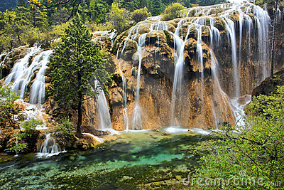 Waterfall,Jiuzhaigou Scenic Area