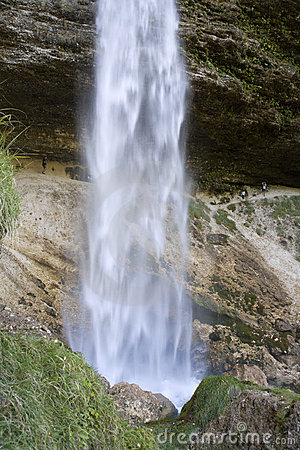 Waterfall in Julian alps