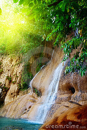 Waterfall in jungle
