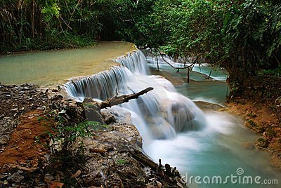Waterfall in the jungle, kuangsi