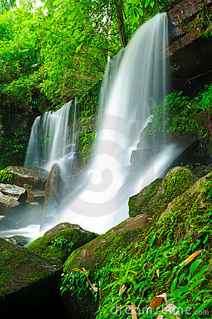 Waterfall in the jungle,Loei,Thailand