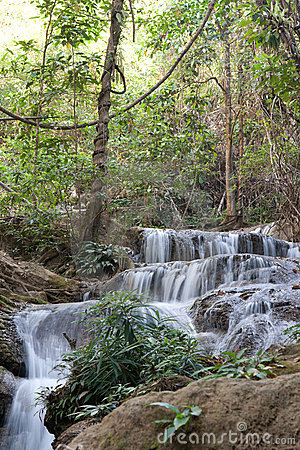 Waterfall in jungle in Thailand