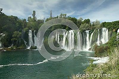 Waterfall Kravica in Bosnia and Herzegovina