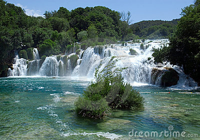 Waterfall in Krka National Park