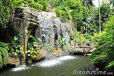 Waterfall in Malacca Botanic Garden