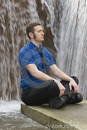Free Waterfall Meditation Stock Image - 5283101