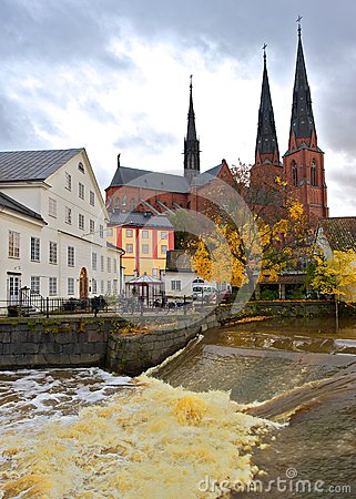 Waterfall at the mill, Uppsala, Sweden
