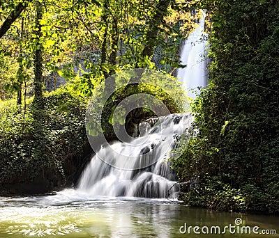 Waterfall at Monasterio de Piedra Natural Park