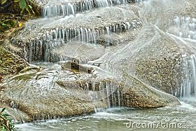Waterfall in National Park  Kanchanaburi HDR