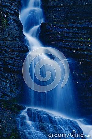 Waterfall in the night