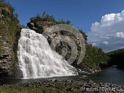 Waterfall in the north of Norway
