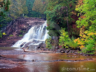 Waterfall on the north shore of Lake Superior