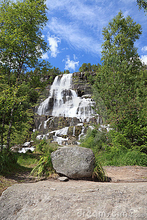 Waterfall in Norway.