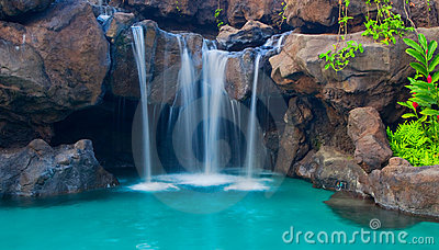 Waterfall into Pool