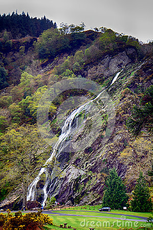 Free Waterfall, Powerscourt, Ireland Royalty Free Stock Images - 96359159