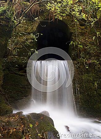 Waterfall in the rock