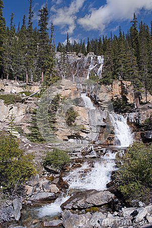 Waterfall in the Rocky Mountains