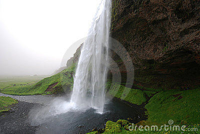 Waterfall Seljalandsfoss in Iceland