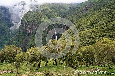 Waterfall in Simien Mountains, Ethiopia