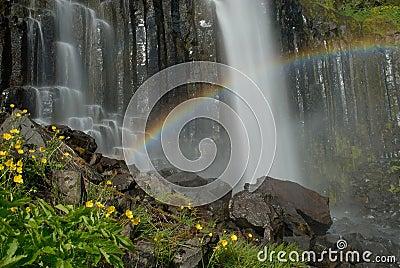 Waterfall in Snaefellsnes peninsula, Iceland