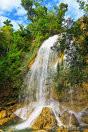 Waterfall in Soroa,a cuban touristic landmark