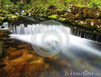Waterfall stream landscape
