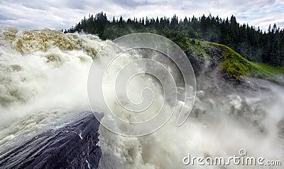 Waterfall in Sweden , Tännforsen