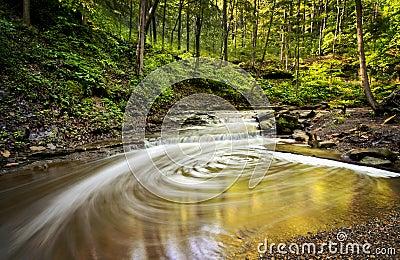 Waterfall Swirls Stock Photo Image 41748335