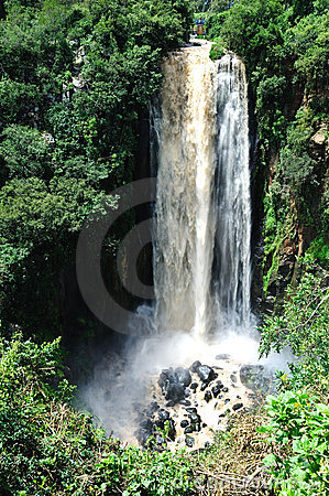Waterfall in  Tanzania