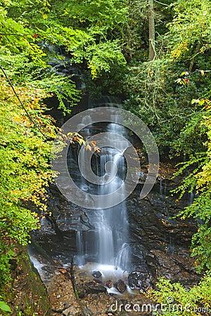 Waterfall On Tennessee North Carolina Border Stock