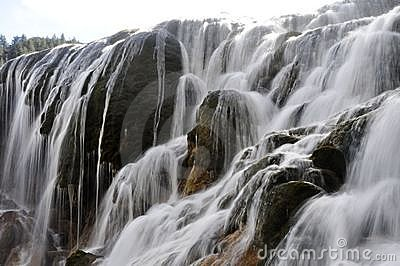 Waterfall in tibetan china