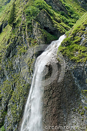 Waterfall in the tyrolean Alps