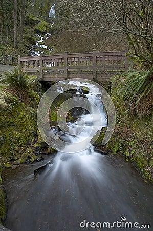 Waterfall Under Bridge
