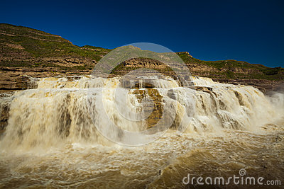 Waterfall yellow river hukou
