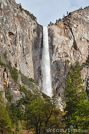 Waterfall in yosemite national park