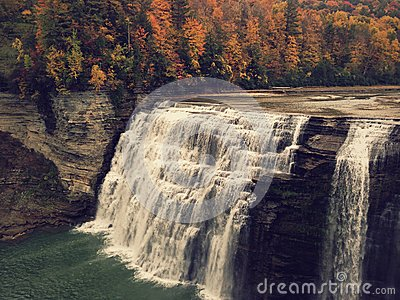 Waterfalls In Autumn Forest Free Public Domain Cc0 Image