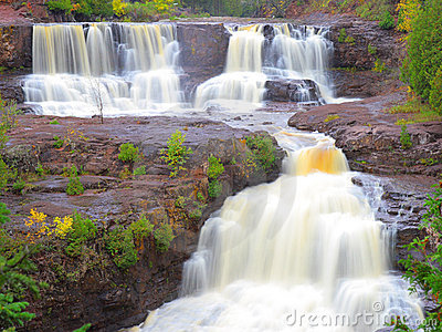 Waterfalls on Gooseberry River