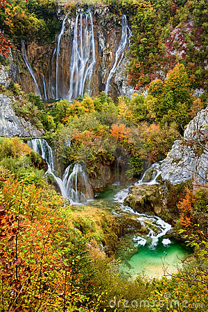 Free Waterfalls In Plitvice Lakes National Park Royalty Free Stock Images - 17194429