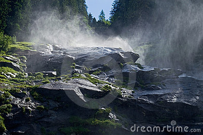 Waterfalls Krimml in Austria