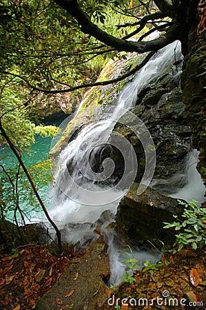 Waterfalls in Mount Huangshan
