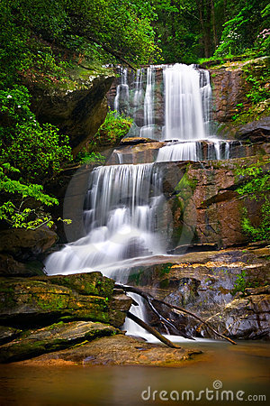 Waterfalls Nature Landscape in Mountains