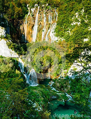 Free Waterfalls Of Plitvice Lakes National Park Stock Image - 103638171
