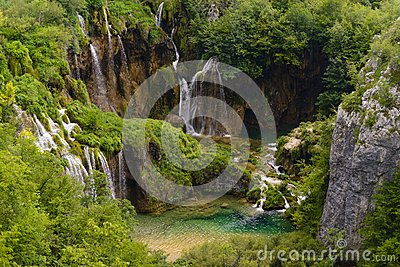 Waterfalls of the plitvice lakes