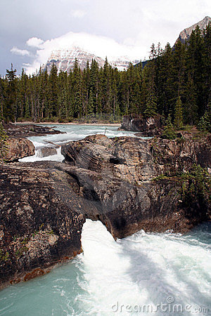 Waterfalls in the rocky mountains - West Canada
