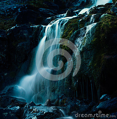 Waterfalls Surrounded With Rocks Free Public Domain Cc0 Image