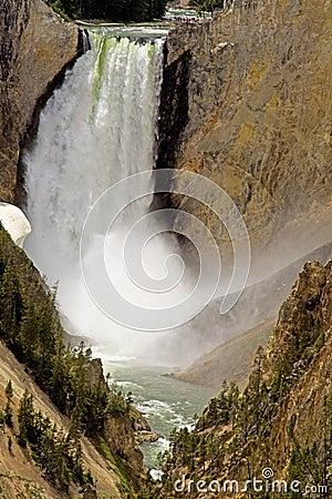 Waterfalls of Yellowstone National Park.
