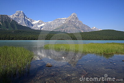 Waterfowl Lake and Mount Howse