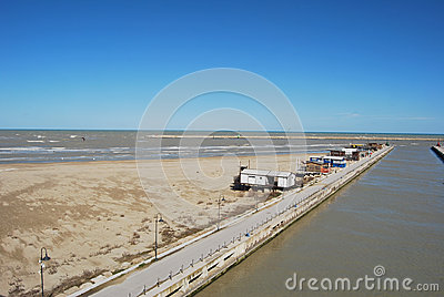 The waterfront and beach of Pescara