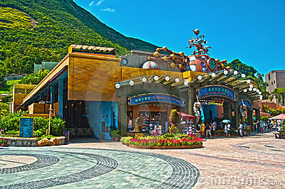 Waterfront express shop, ocean park Editorial Stock Photo